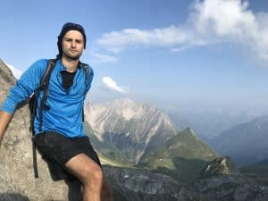 Harris hiking in the Austrian Alps