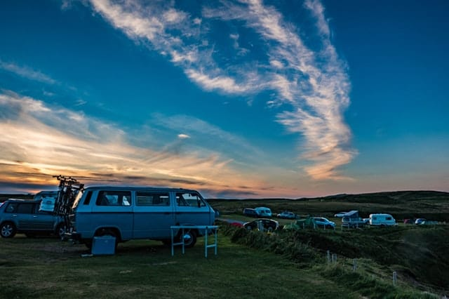 RV van camping