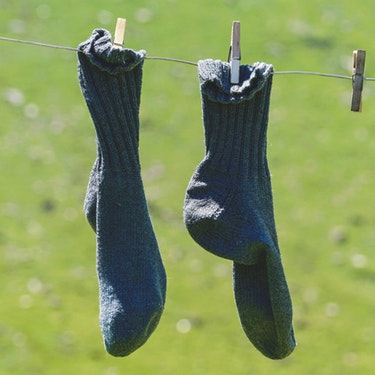 hanging socks under the sun