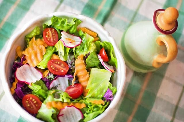 vegetable salad can be prepared at home or in the camp site