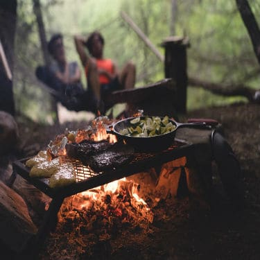 cooking food on camping