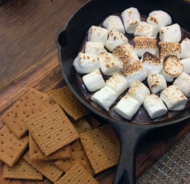 smores for the kids - camping meal
