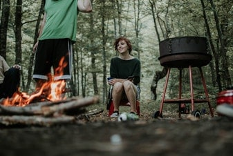 couple camping cooking teaser pic