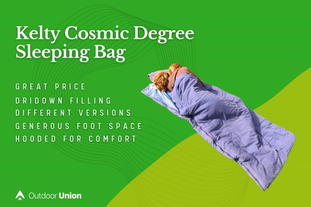 Kelty-Cosmic-Degree-Sleeping-Bag-Pros